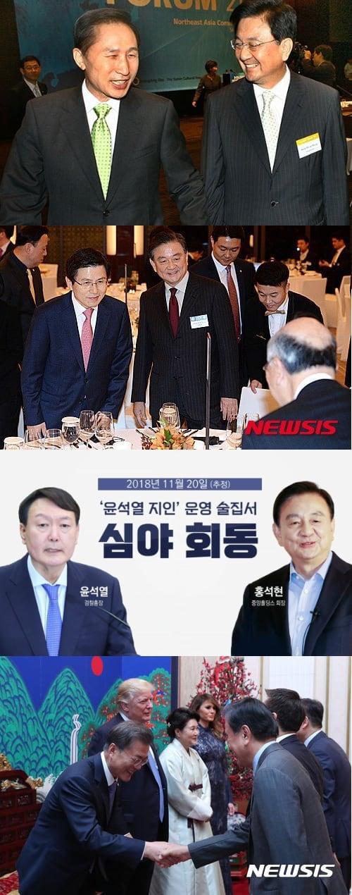 홍석현-이명박-황교안-윤석열-문재인
